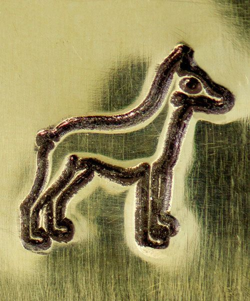 PN6478 = ImpressArt Design Stamp - dog-doberman 6mm