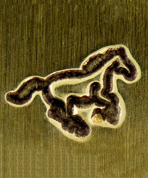 PN6471 = ImpressArt Design Stamp - galloping horse 6mm