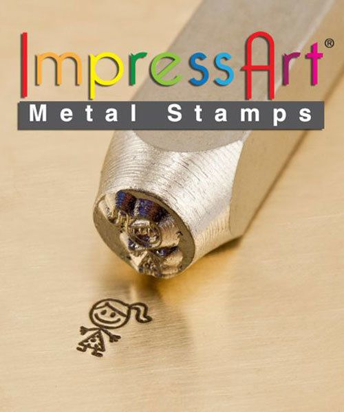 PN6396 = ImpressArt Design Stamp - ''jenny'' - stick figure 6mm