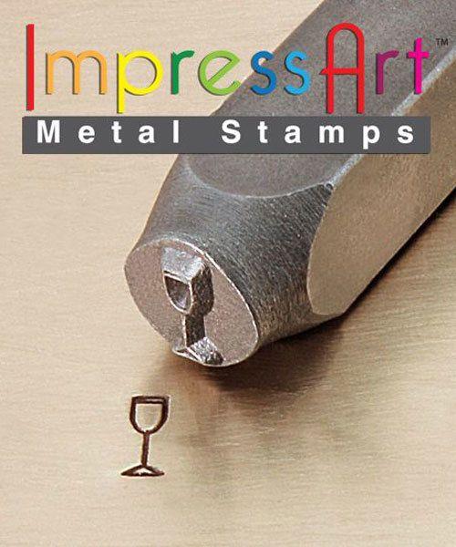 PN6366 = ImpressArt Design Stamp - champagne glass 6mm