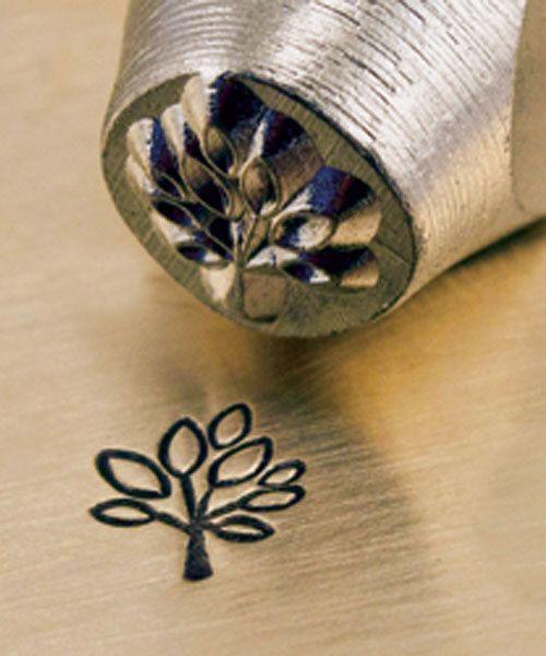 PN6339 = ImpressArt Design Stamp - leafy tree 6mm