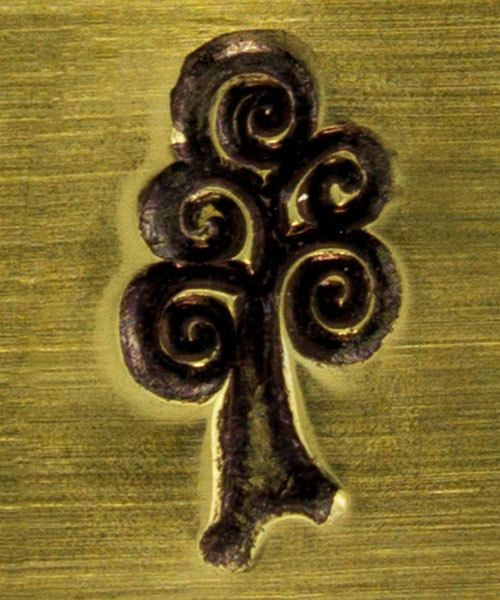 PN6332 = ImpressArt Design Stamp - swirl tree 6mm