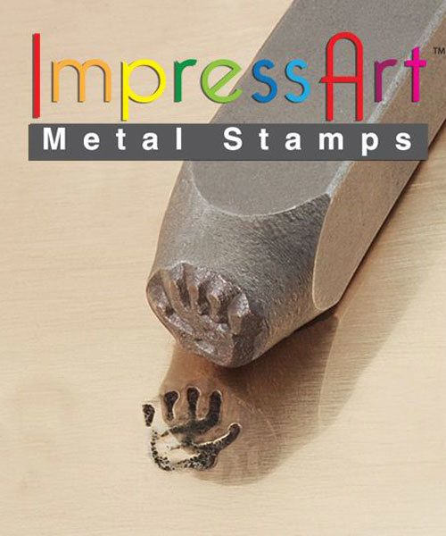 PN6309 = ImpressArt Design Stamp - left hand print 9.5mm