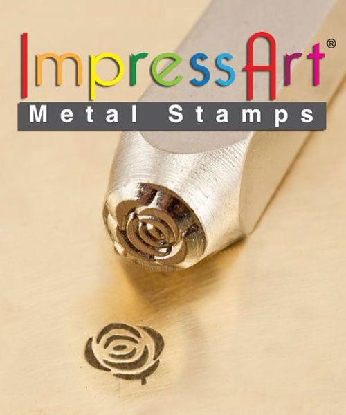 PN6280 = ImpressArt Design Stamp - rose 6mm