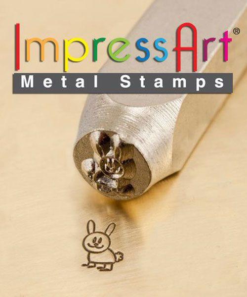 PN6252 = ImpressArt Design Stamp - bunny rabbit 6mm