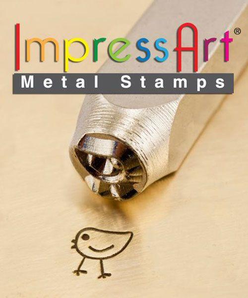 PN6250 = ImpressArt Design Stamp - chickadee 6mm