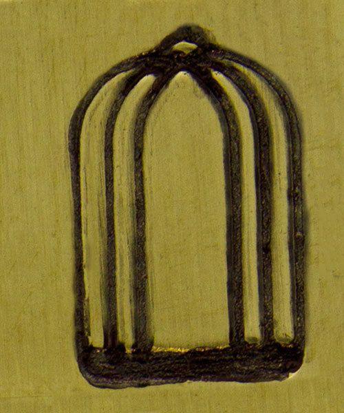 PN6240 = ImpressArt Design Stamp -bird cage 9.5mm