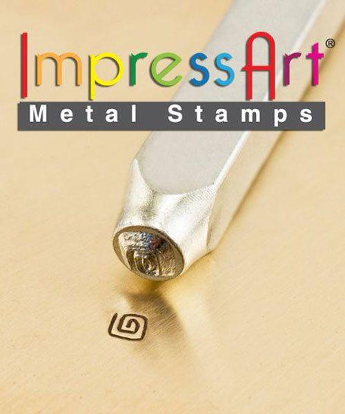 PN6215 = ImpressArt Design Stamp - square swirl 3mm