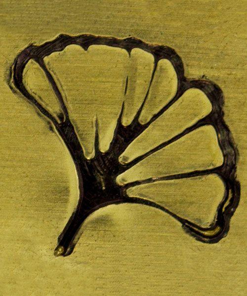 PN5726 = DESIGN STAMP ELITE JUMBO 10mm - ginko leaf