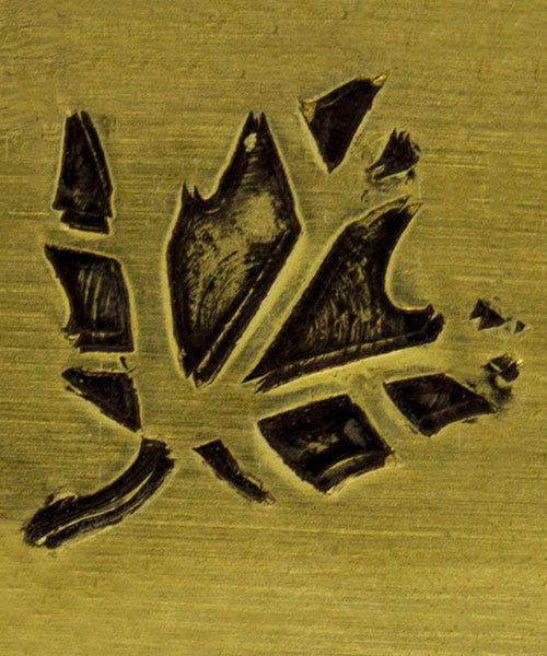 PN5725 = DESIGN STAMP ELITE JUMBO 10mm - leaf