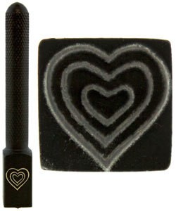 PN5713 = DESIGN STAMP ELITE JUMBO 10mm - triple heart