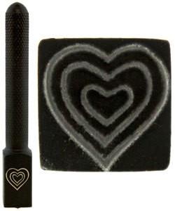 PN5713 = DESIGN STAMP ELITE JUMBO 10mm - triple heart **CLOSEOUT**