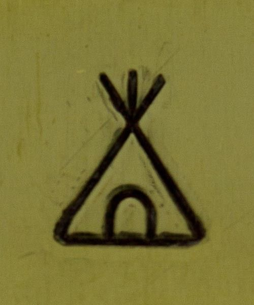 PN5673 = DESIGN STAMP 6mm - teepee