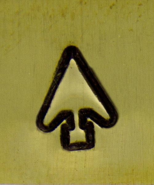 PN5670 = DESIGN STAMP 6mm - arrowhead **CLOSEOUT**