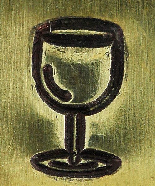 PN5645 = DESIGN STAMP 6mm - wine glass