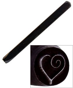 PN5294 = DESIGN STAMP - heart with swirl