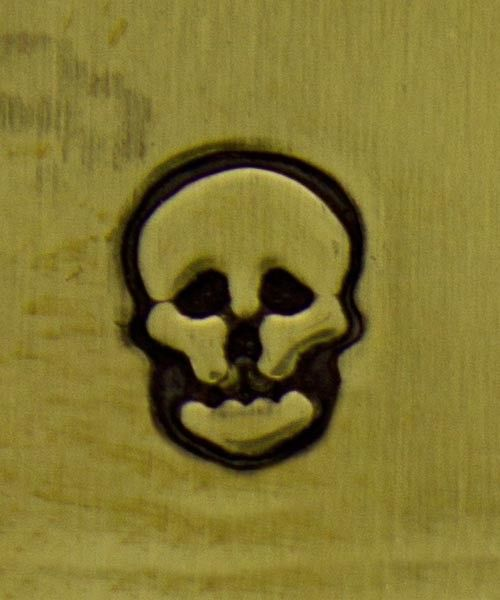 PN5276 = DESIGN STAMP - skull **CLOSEOUT**