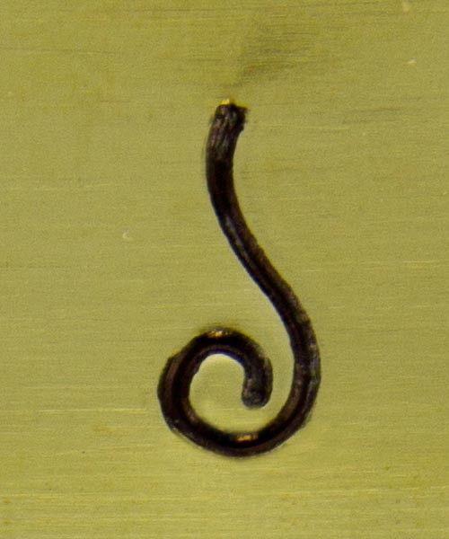 PN5150 = SOUTHWEST DESIGN STAMP - Tight curl **CLOSEOUT**