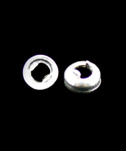 515FS-3.0 = FINE SILVER 3mm ROUND BEZEL with TAB BACK (6pcs)