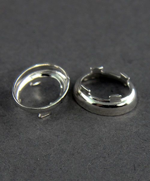 516FS-08X06 = FINE SILVER 8x6 OVAL BEZEL with TAB BACK (6pcs)