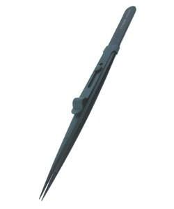 Dumont 57.608 = Dumont Diamond Tweezer Medium Black Locking