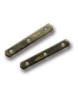 583F-02 = GOLD FILLED SPACER with 3 HOLES - 6mm (Pkg of 8)