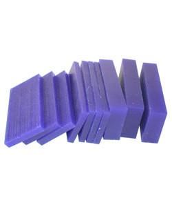 21.02767 = DuMatt Blue Carving Wax Slices (1/2lb)