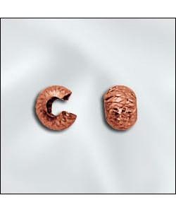 585CU-20D = COPPER CRIMP COVERS DIAMOND CUT 3mm (Pkg of 100) **CLOSEOUT**