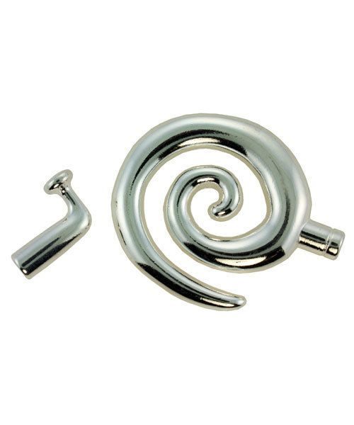 6000SC-02 = KUMIHIMO LARGE GLUE IN SWIRL TOGGLE SILVER PLATED