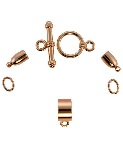 6099CP-01 = KUMIHIMO FINDING SET COPPER PLATED