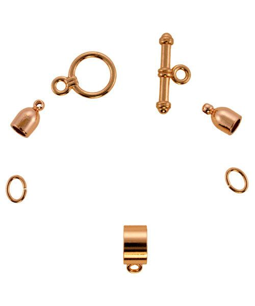 6099CP-02 = KUMIHIMO FINDING SET COPPER PLATED
