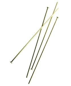 807F-11 = GOLD FILLED - HEAD PIN - 2''x.030'' (20ga/.8mm) WIRE