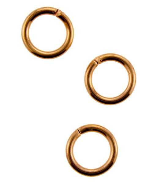 900CU-6.0 = Copper Jump Ring Open 6.0mm OD x .036'' (Pkg of 100)