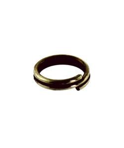 901AB-03 = SPLIT RING ANTIQUE BRASS 6mm (Pkg of 50)