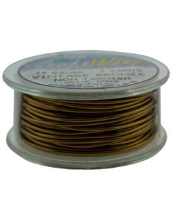 WR6718V = Craft Wire Vintage Bronze Color 18ga 7 YARDS