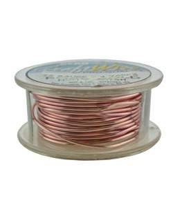 WR6718R = CRAFT WIRE TARNISH RESISTANT ROSE GOLD ROUND WIRE 18ga 4 YARDS