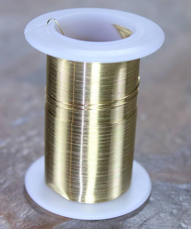 WR6026G = Tarnish Resistant Craft Wire Gold Color 26ga - 34yd Spool