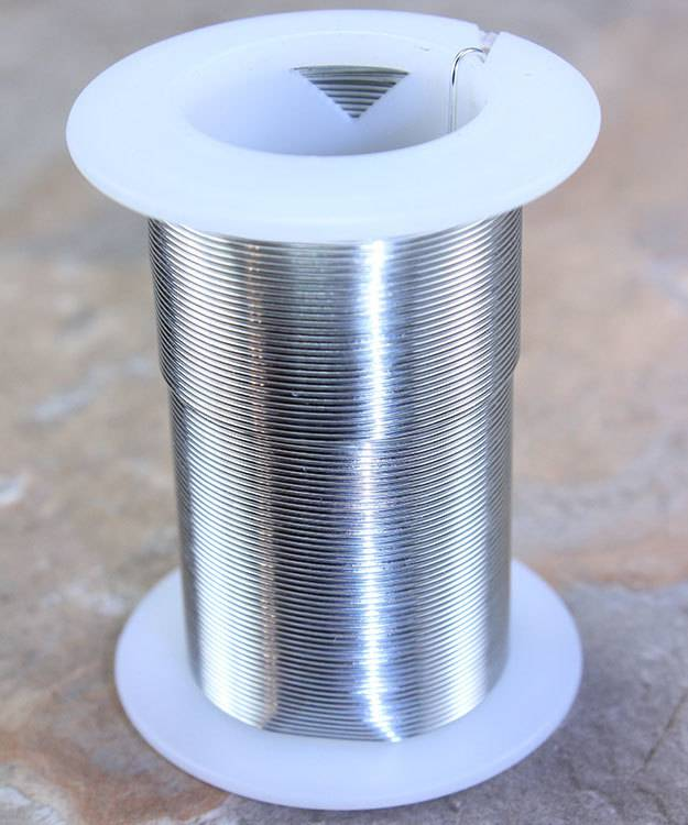 WR6022S = Tarnish Resistant Craft Wire Silver Color 22ga - 20yd Spool