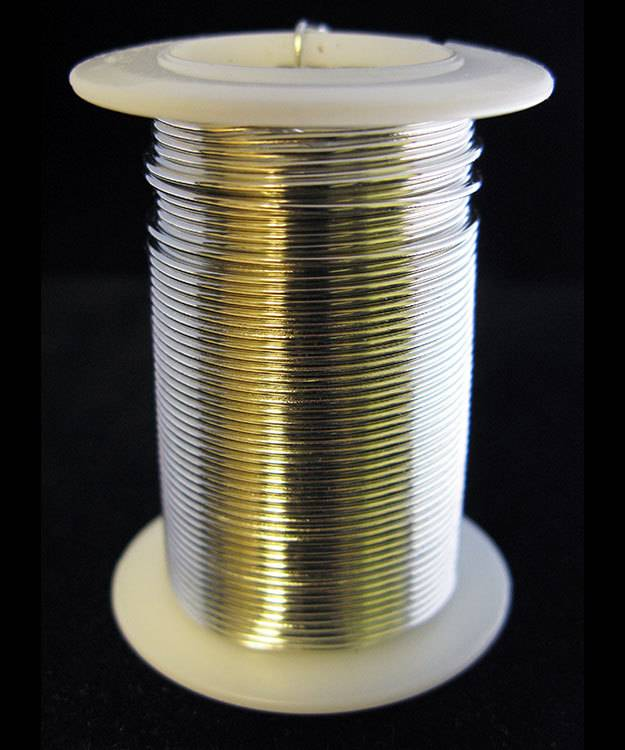 WR6018S = Tarnish Resistant Craft Wire Silver Color 18ga - 10yd Spool