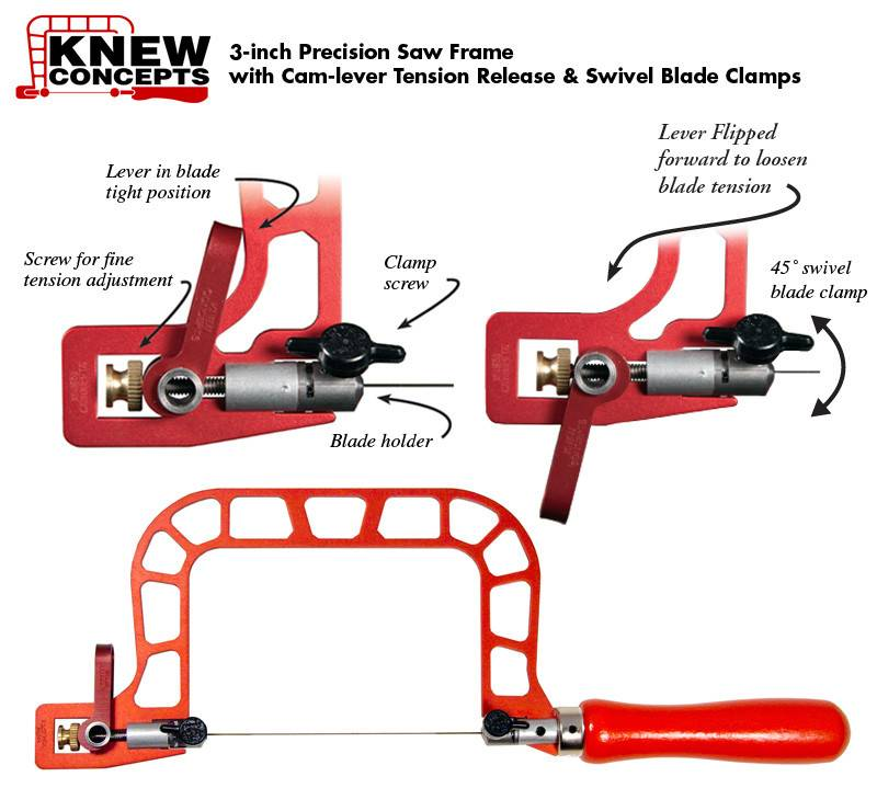 SW4013 = Knew Concepts 3'' Saw with Cam Lever Tension