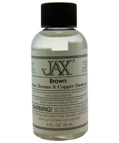 PM9002 = Jax Brown Darkener for Copper, Brass & Bronze 2oz Bottle