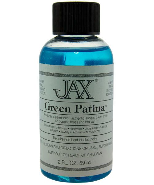 PM9000 = Jax Green Patina for Copper, Brass & Bronze 2oz Bottle