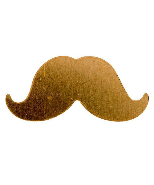 MSC59524 = COPPER SHAPE - LARGE MUSTACHE 24ga (Pkg of 6)