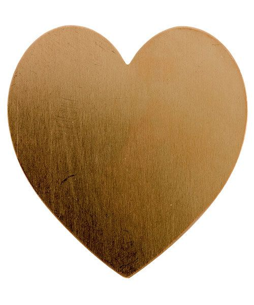 MSC43124 = COPPER SHAPE - HEART 1-3/8'' x 1-1/2''   24ga (Pkg of 6)