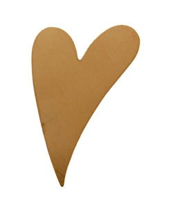 MSC42618 = COPPER SHAPE - HEART 1-7/16'' x 1'' 18ga (Pkg of 6)