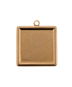 MSC30724 = Copper Shape Square with Ring 24ga 20mm (Pkg of 6)