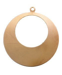 MSC11724 = COPPER SHAPE - ROUND DROP 24ga 1-5/8''OD with 7/8''ID CUTOUT & RING (Pkg of 6)