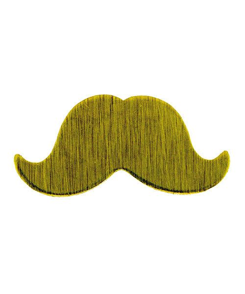 MSBR59624 = BRASS SHAPE - SMALL MUSTACHE 24ga (Pkg of 6)