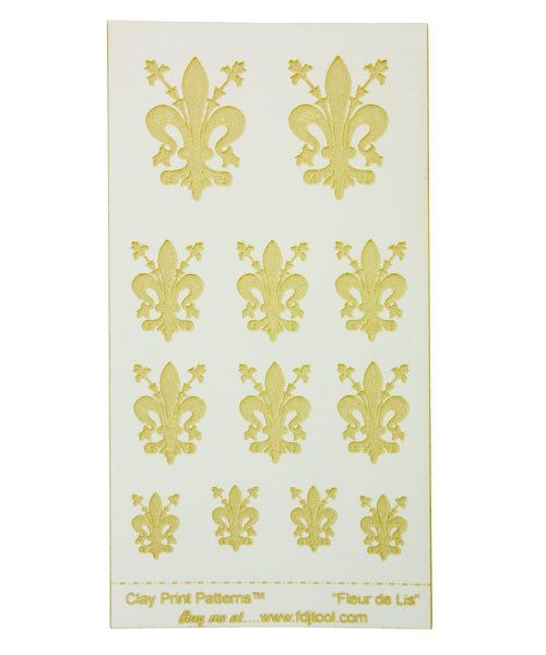 MC2624 = CLAY PRINT PATTERN - LASER CUT - FLEUR DE LIS