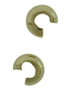 585C-21 = GOLD PLATED - CRIMP COVER 4mm (PKG/144)